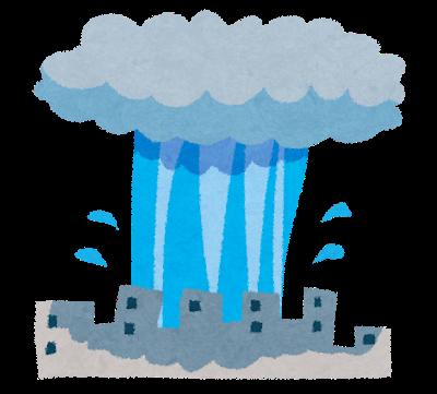 天より下にありし者 交通誘導員 65日目 大豪雨だって仕事ある